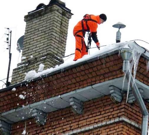 Инструкции для очистки крыш от снега